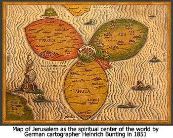 Heinrich Bunting World Map